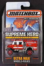 2015 Matchbox Supreme Hero International® WorkStar™ RED / ROANOKE FIRE-EMS / MOC