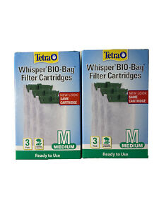 Tetra Whisper Bio-Bag Cartridge Medium 3pk- Two Boxes:Free Shipping!