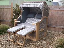 Strandkorb Jumbo Teak, 2,5 Sitzer 140cm breit, Sonic Design, Teakholz, Edelstahl