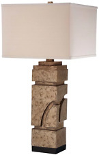 """Ambience 13027-0 1-Light 31"""" High Table Lamp with Square Cream Shade"""
