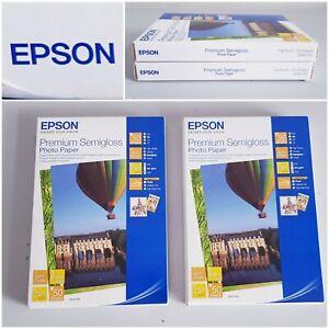 Epson Premium Semigloss Photo Paper 10cm x 15cm 100 Sheets New Sealed x 2 Packs