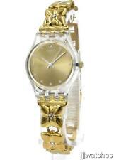 New Swatch Originals Women GOLDEN KEEPER Bracelet Watch 25mm LK358G $90