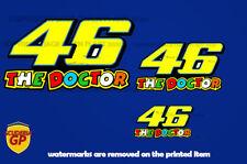More details for valentino rossi #46 the doctor moto gp sticker - scuderia gp