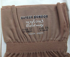 "Vintage fully fashioned stockings 8.5"" 1950s 30 denier KAYSER Seamed Bend-Easy"