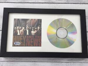 Huey Lewis Signed Huey & The News Live at 25 CD Cover Framed Beckett BAS COA a