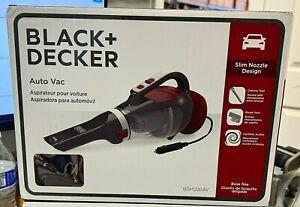 BLACK + DECKER BDH1220AV Gray/Red 12V Car Handheld Vacuum Slim Nozzle Auto Vac