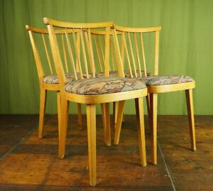 Kitchen Chair 50er Vintage 4x Dining Room Rockabilly Sprossenstuhl Retro 50s