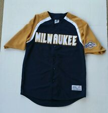 Milwaukee Brewers Dynasty Series Stitched Jersey Men's Size Medium (38-40) MIL