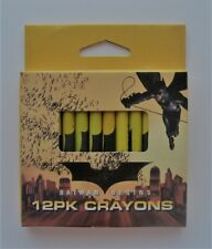 NOVELTY-CHILDRENS-CRAYONS 1 x pkt of 12 Batman Begins Design Crayons