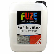 FerPrime Black Rust Treatment, Rust Converter, Rust Primer - 5 litres