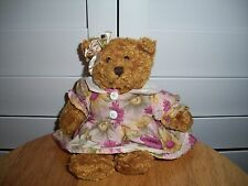 2000 Plushland plush Bear in floral dress