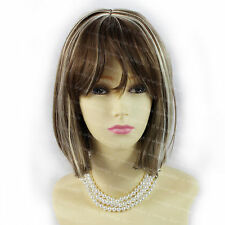 Wiwigs Gorgeous Short Style Bob Chestnut Brown & Blonde Mix Ladies Wig