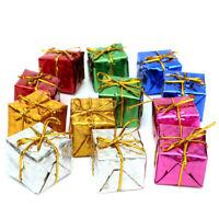 12Pcs Mini Christmas Ornaments Foam Gift Box Xmas Tree Hanging Box Party Decor