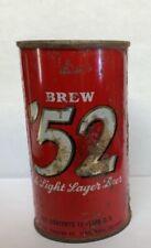 Brew '52 Beer can flat top Grace Bros Brewing Santa Rosa Ca 52 flattop 1950s