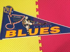 "Vintage St Louis Blues Wincraft Pennant With 3-1/2"" Pinback Button Made In USA"