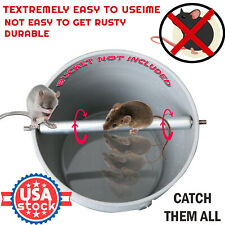 Humane Mouse Trap Mice Rat Killer Bucket Trap Rolling Log Cage Plank Catcher New