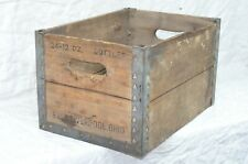 Vintage 1947 Generalite Wooden Wood Bottle Crate Metal Corners Liverpool Ohio