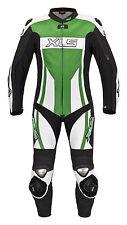 Combi Cuir une Piece de Xls Kawasaki Vert Combinaison Racing Pièce Gr. 46 - 60
