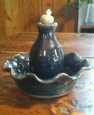 NEW Blue Pottery Oil/Fragrance Lamp - Signed SMITH
