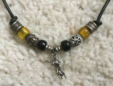 Lacrosse player guy handmade necklace