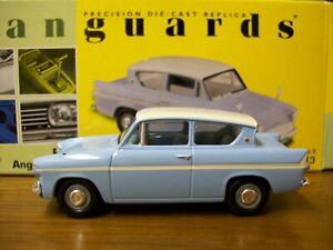 Vanguards Ford Anglia 105E Bermuda Blue and Ermine White Harry Potter RARE