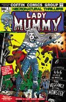 "Lady Death Sworn #1 ""Lady Mummy""   PGX 10.0 GRADED & SLABBED Ltd. Ed. 66 Comic"