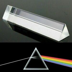 8cm Licht Spektrum optisches Glasprisma Physik Dreiecksprisma Triangular Prisma