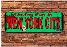 New York City Vintage Style Novelty Wall Plaque Sign Metal New York City Sign