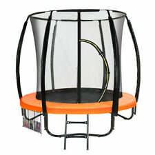 Trampoline Free Ladder Spring Mat Net Safety Pad Cover Round Orange 10 ft 12 14
