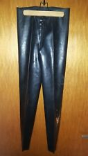 Latex Leggings 3-Wege Reißverschluss, schwarz, anatomisch Damen, Herren, Größe M