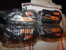 4)  New  Ridgid 18v Hyper Lithium-Ion 4.0 amp hr Batteries /  R840087