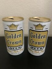 Golden Crown Beer Can Lot Of 2 Nice Beer Cans General Brewing Co Sf Ca Vintage