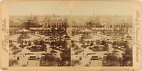 Messico Ciudad Da Città Del Plaza Mayor, Foto Stereo Vintage Albumina PL61L13