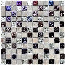 Glas-/Natursteinmosaik mix Design Quarzit grau Küche Wand Art:83-CR37 | 10Matten