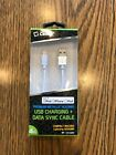 Cellet MFI Apple Certified 4ft Lightning USB Charging Data Cable WHITE