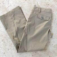 Athleta Womens Dipper Cargo Pants Size 4 Petite Tan EUC