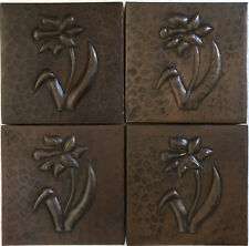 Copper Tile (TL321-4x4) Daisy Flower Design, Set of 4 *free shipping*