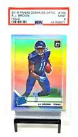 2019 Optic HOLO REFRACTOR Titans AJ BROWN Rookie Football Card PSA 9 Pop 19