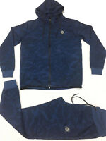 Tokyo Lee Mens tracksuits, g bar rock star camouflage blue jogging set hip hop