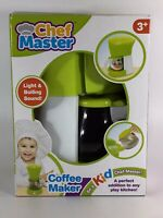 Be A Kid Chef Master- Battery operated Coffee Maker Light & Boiling Sound