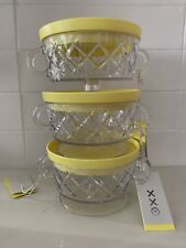 Philippe Starck for Target. Set Of Three 12oz Plastic Bowls with Yellow Lid.