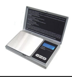 AWS 1000g x 0.1g Gram Digital Pocket Scale Powder Jewelery Gold Silver Coin Herb
