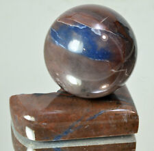 IRNIMITE Blue Jasper Natural polished sphere 56 mm with stand ball #12234 RUSSIA