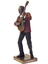 Jazz Músico Guitarra Figura, Escultura Guitarrista Le monde tú jazz 20045D