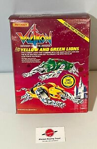 1985 Yellow & Green Diecast Lions MIB Boxed Complete Vintage Voltron Matchbox