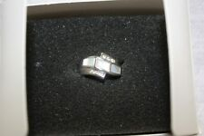 Lia Sophia Mother of Pearl and Cubic Zirconia Silver Ring in Box