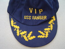 2 Military Hats - VIP USS Ranger - We Forge Ahead Army 18th Support Crest Pin