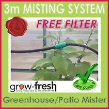 GREENHOUSE MIST OUTDOOR PATIO WATER MISTING SYSTEM KIT COOLING GREEN HOUSE 3M