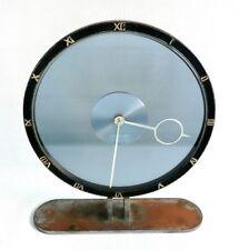Vtg 1930s Kienzle Heinrich Moller Bauhaus Glass Table 8 Day Mantle Clock