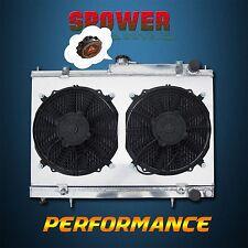 Aluminum Radiator+Fan Shroud For NISSAN SKYLINE R33 R34 GTR GTST RB25DET MT 52MM
